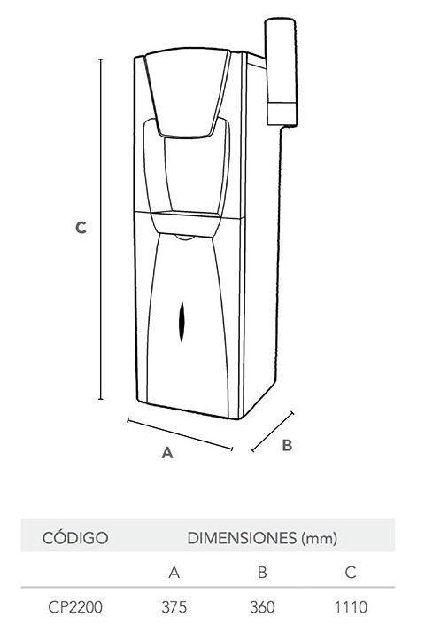 waterluxe-osmosis-medidas-dispensador-cp2200-hidrowater