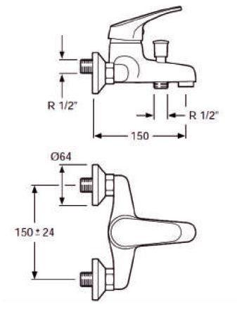 waterluxe-osmosis-medidas-grifo-baño-basic